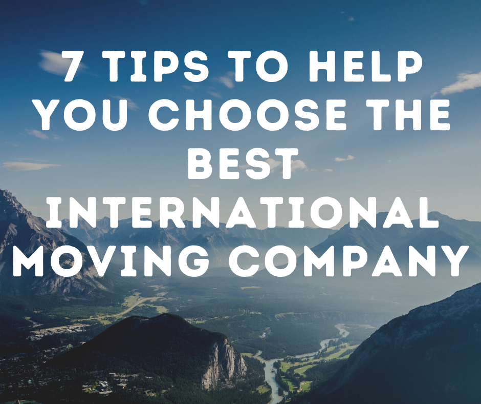 Tips for Moving Internationally